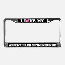 I Love Appenzeller Sennenhunde License Plate Frame