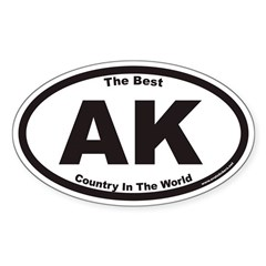 Alaska The Best County In The World Euro Oval Stic
