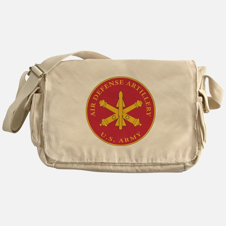 Air Defense Artillery Plaque Messenger Bag