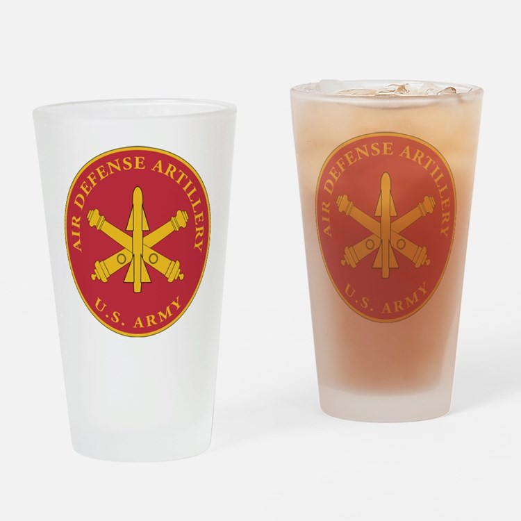 Air Defense Artillery Plaque Drinking Glass