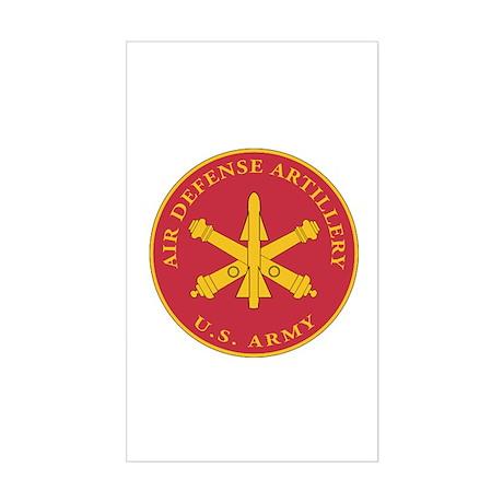 Air Defense Artillery Plaque Sticker (Rectangle)