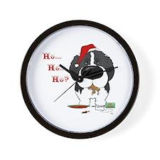 Newfie Santa's Cookies Wall Clock