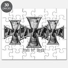Hell N' Back Skulls Crosses Puzzle