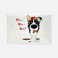 Border Collie Santa's Cookies Rectangle Magnet