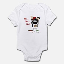 Border Collie Santa's Cookies Onesie