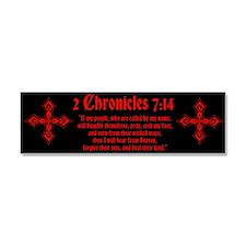 2 Chr 7:14 Kreuz - Car Magnet 10 x 3