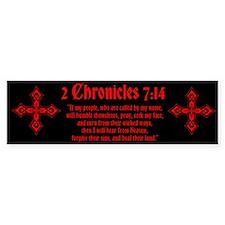 2 Chr 7:14 Kreuz - Bumper Sticker