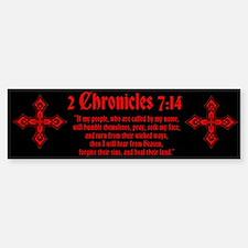 2 Chr 7:14 Kreuz - Sticker (Bumper)