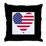 Framed American Heart Throw Pillow