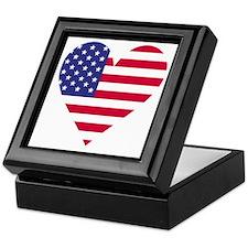 Framed American Heart Keepsake Box