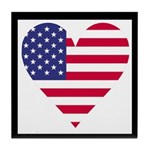 Framed American Heart Tile Coaster