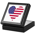American Heart Keepsake Box