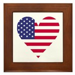 American Heart Framed Tile
