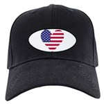 American Heart Black Cap