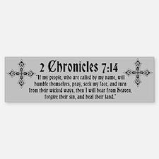 2 Chr 7:14 Kreuz - Bumper Bumper Sticker