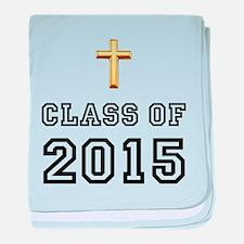 Class Of 2015 Cross baby blanket