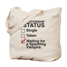 SIngle Taken Sparkling Vampir Tote Bag