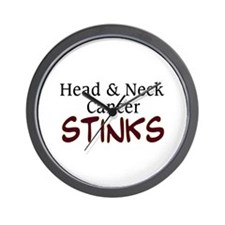 Head & Neck Cancer Stinks Wall Clock