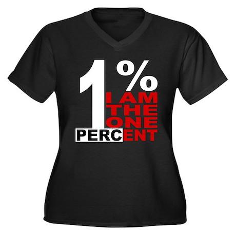 I am the one percent Women's Plus Size V-Neck Dark