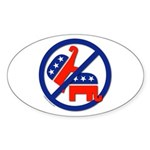 Ban Republican Marriage (sex) Oval Sticker