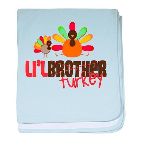Little Turkey Brother baby blanket
