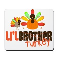 Little Turkey Brother Mousepad