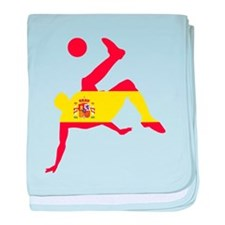 Spain Soccer baby blanket