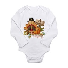 Baby's 1st Thanksgiving Long Sleeve Infant Bodysui