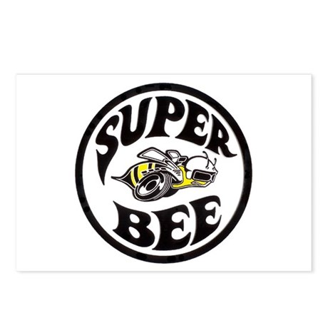 Super Bee design Postcards (Package of 8)