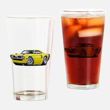 1970 Coronet Yellow-Black Car Drinking Glass