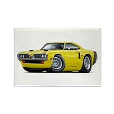 1970 Coronet Yellow-Black Car Rectangle Magnet