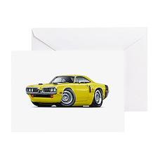 1970 Coronet Yellow-Black Car Greeting Card