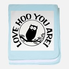 Owl - Love Hoo You Are baby blanket