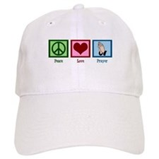 Peace Love Prayer Baseball Cap