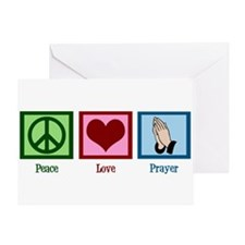 Peace Love Prayer Greeting Card