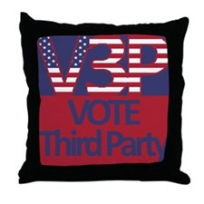V3P - Vote Third Party Throw Pillow