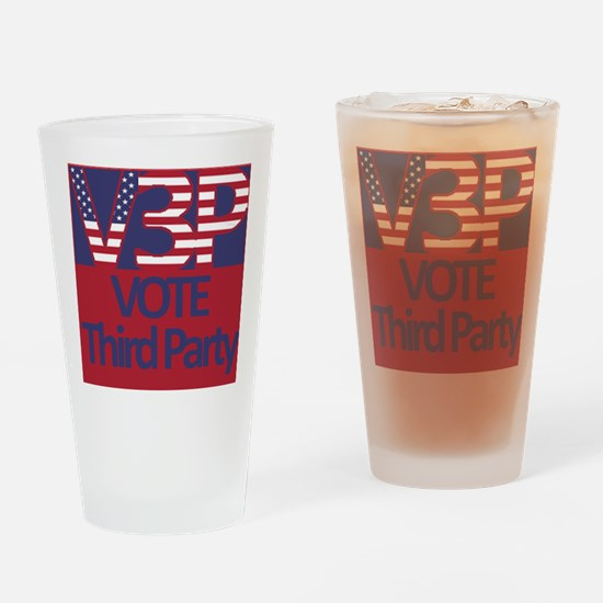 V3P - Vote Third Party Drinking Glass