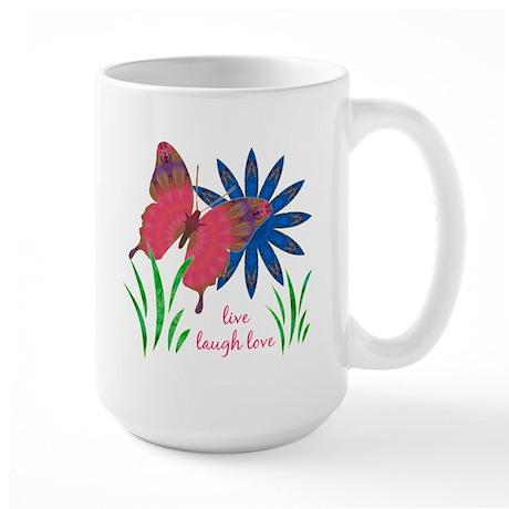 Divine Butterfly w flower Large Mug