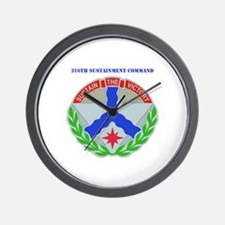 DUI-316th Sustainment Command with Text Wall Clock