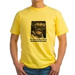 LAUGHING PUG  Yellow T-Shirt