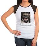 LAUGHING PUG  Women's Cap Sleeve T-Shirt