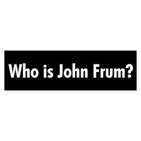 Who is John Frum? Sticker (Bumper 50 pk)