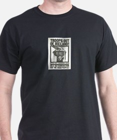 Troops Out Black T-Shirt