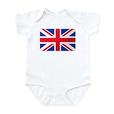 Union Jack Flag Infant Creeper