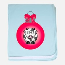ORNAMENT - COW baby blanket