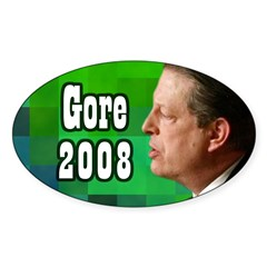 Al Gore for President Oval Bumper Decal