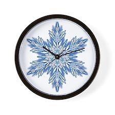 Snowflake 7 Wall Clock