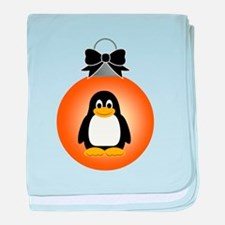 ORNAMENT - PENGUIN baby blanket