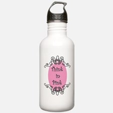 Think in Pink Water Bottle