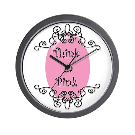 Think in Pink Wall Clock
